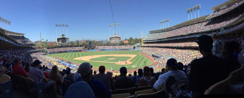 Seating view for Dodger Stadium Section 111lg Row J Seat 4