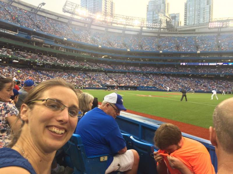 Seating view for Rogers Centre Section 113ar Row 3 Seat 2