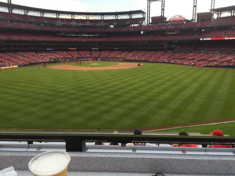 Seating view for Busch Stadium Section SBP Row 3 Seat 48