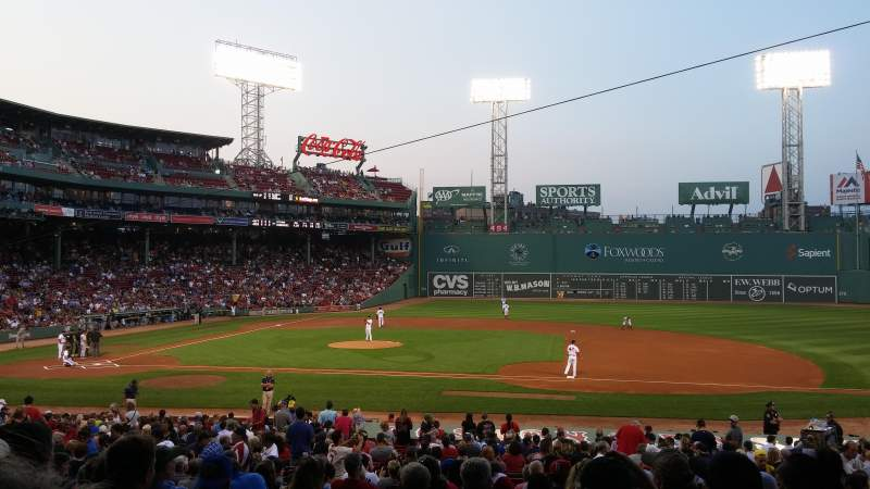 Seating view for Fenway Park Section Grandstand 15 Row 2 Seat 11