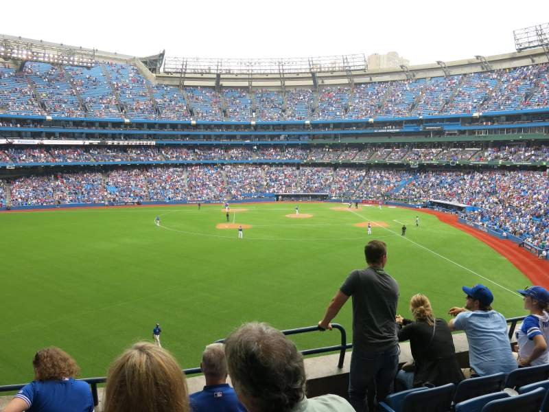 Seating view for Rogers Centre Section 241L Row 3 Seat 108