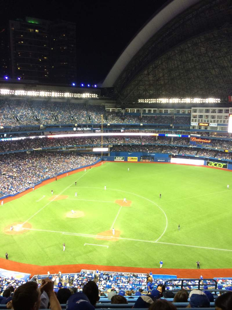 Seating view for Rogers Centre Section 517R Row 10 Seat 7