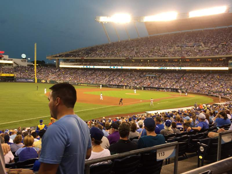 Seating view for Kauffman Stadium Section 213 Row AA Seat 5