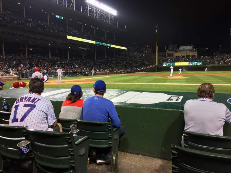 Seating view for Wrigley Field Section 23 Row 4