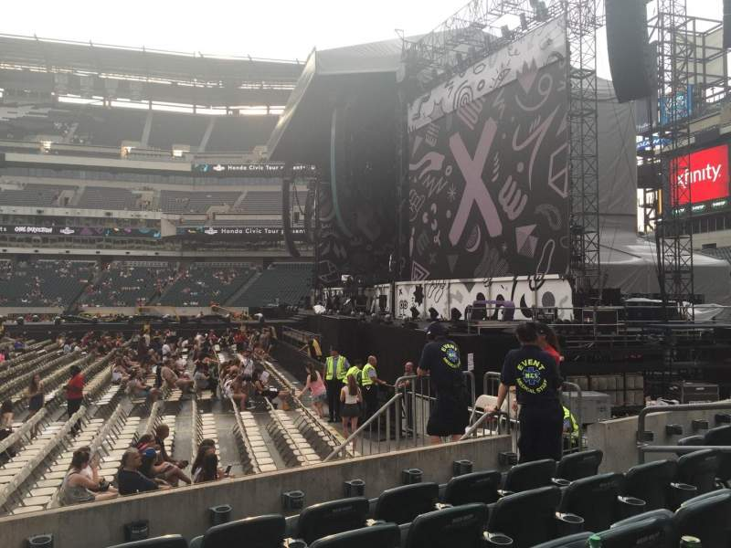 Seating view for Lincoln Financial Field Section 123 Row 5 Seat 9