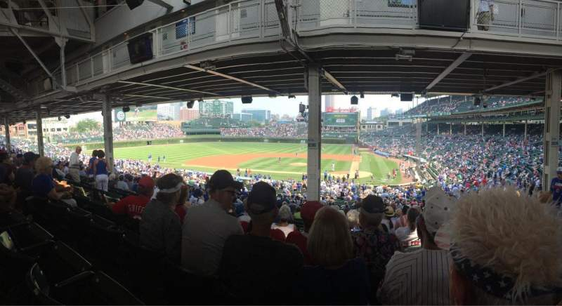 Seating view for Wrigley Field Section 216 Row 17 Seat 9