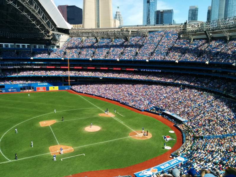 Seating view for Rogers Centre Section 531R Row 6 Seat 6