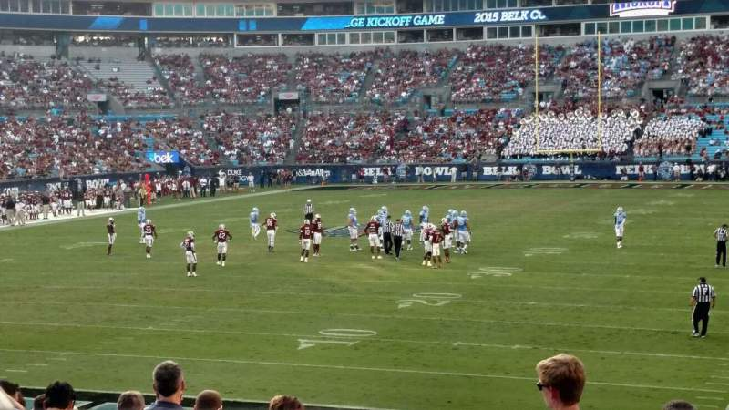 Seating view for Bank of America Stadium Section 119 Row 18 Seat 11