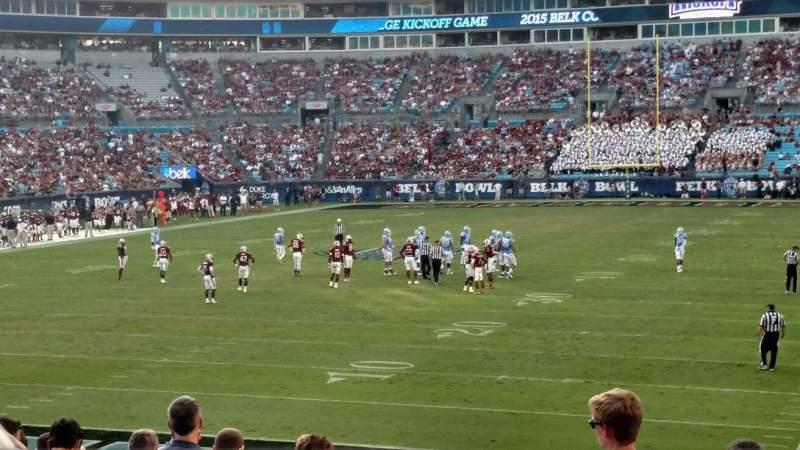 Bank of America Stadium, section: 119, row: 18, seat: 11
