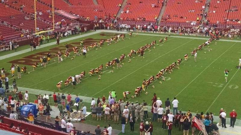 Seating view for FedEx Field Section 301 Row 1 Seat 17