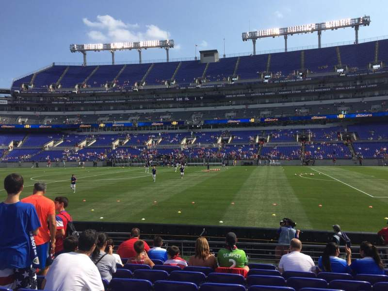 Seating view for M&T Bank Stadium Section 151 Row 9 Seat 16