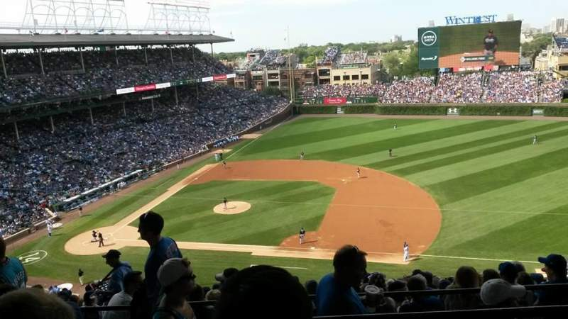 Seating view for WRIGLEY FIELD Section 530 Row 6
