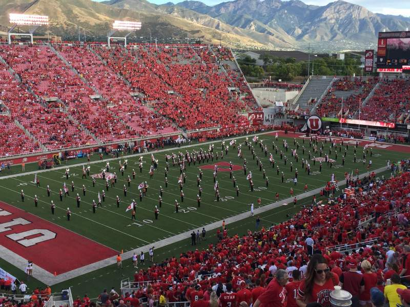 Seating view for Rice-Eccles Stadium Section W18 Row 56 Seat 11