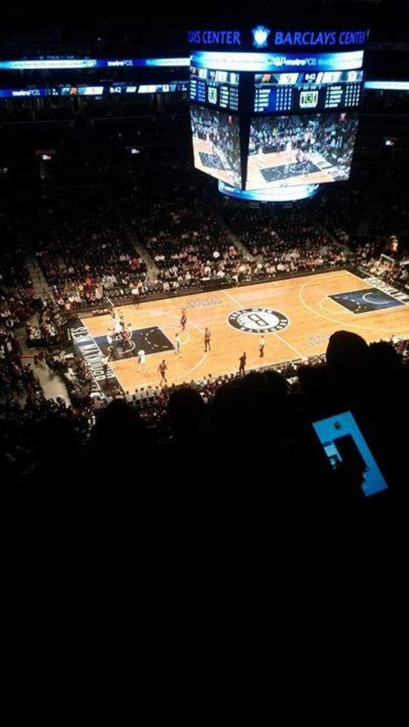 Seating view for Barclays Center Section 210 Row 7 Seat 18