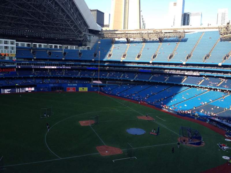 Seating view for Rogers Centre Section 531 Row 2 Seat 110