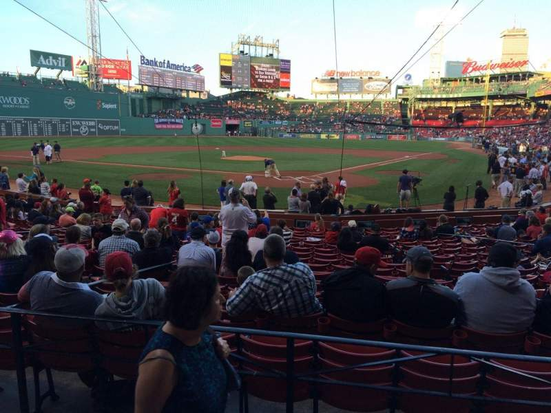 Seating view for Fenway Park Section Loge Box 133 Row BB Seat 6