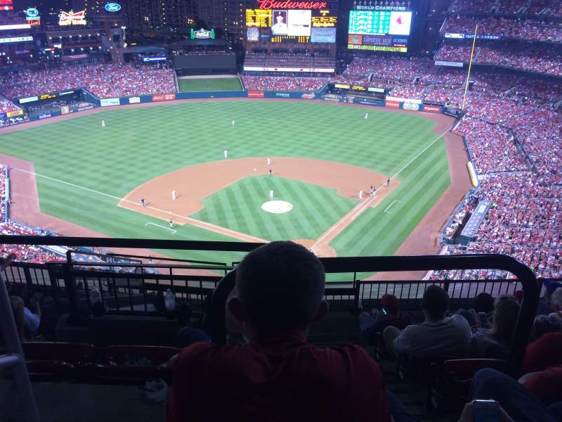 Seating view for Busch Stadium Section 451 Row 10 Seat 25