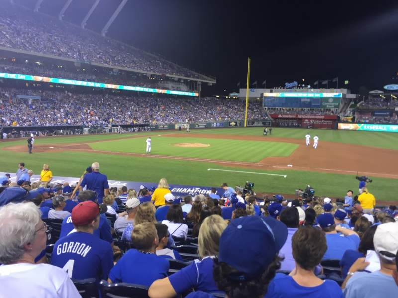 Seating view for Kauffman Stadium Section 136 Row S Seat 5