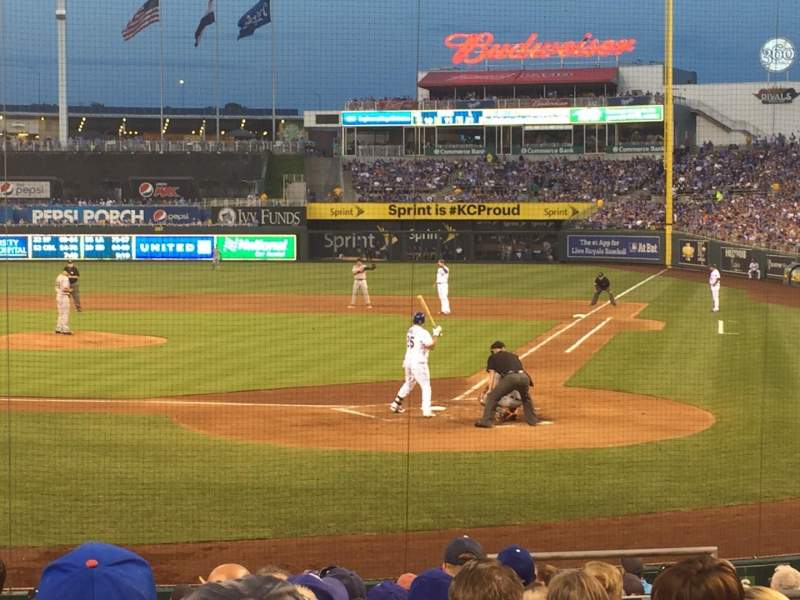 Seating view for Kauffman Stadium Section 125 Row L Seat 7