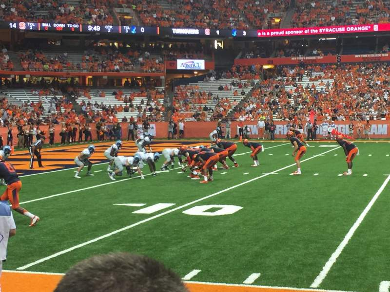 Seating view for Carrier Dome Section 118 Row B Seat 108