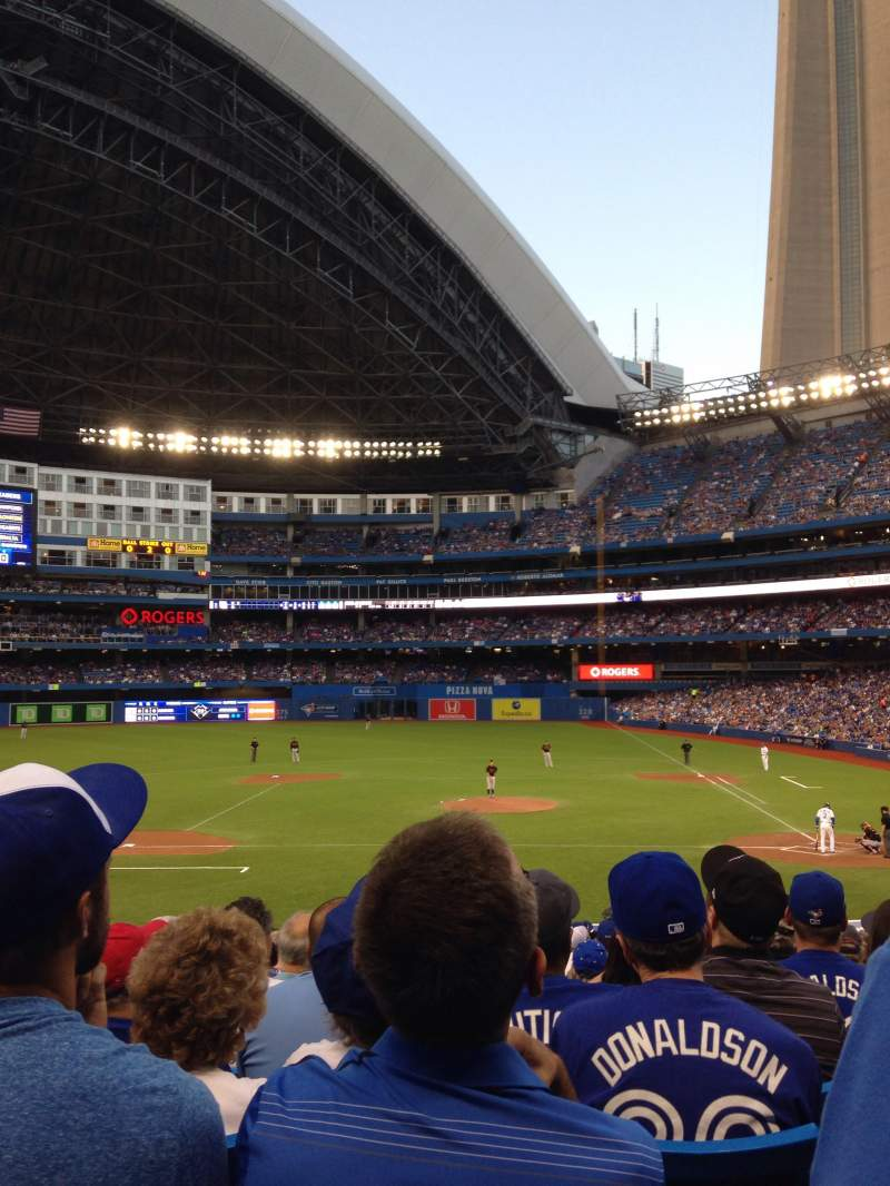 Seating view for Rogers Centre Section 125L Row 33 Seat 110