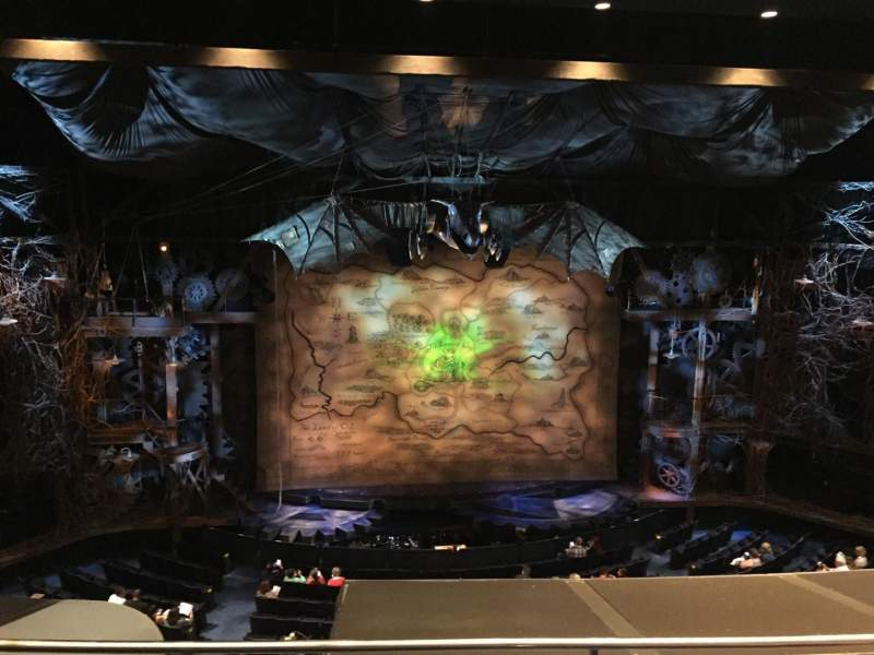 Seating view for Gershwin Theatre Section Front Mezzanine C Row C Seat 104