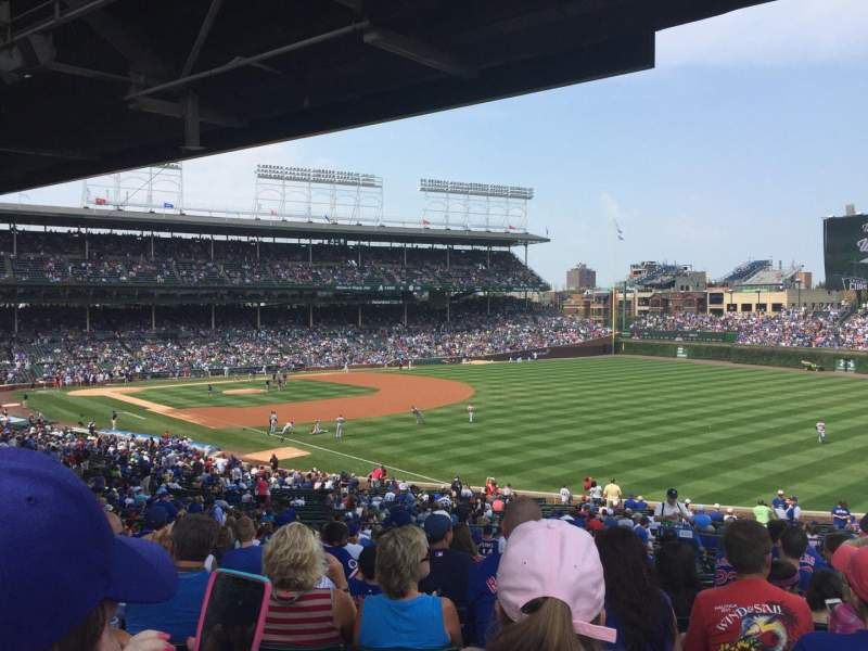 Seating view for Wrigley Field Section 240 Row 21 Seat 106