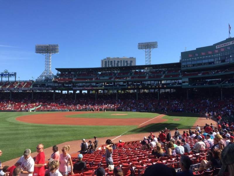 Seating view for Fenway Park Section Loge Box 162 Row GG Seat 12