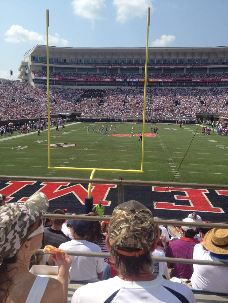 Seating view for Vaught-Hemingway Stadium Section 103 Row 16 Seat 21