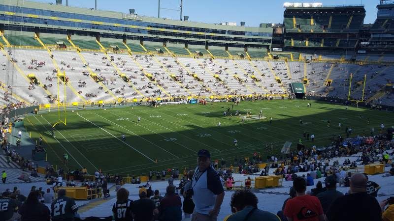 Seating view for Lambeau Field Section 110 Row 59 Seat 23