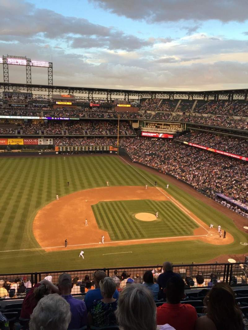 Seating view for Coors Field Section U340 Row 16 Seat 10