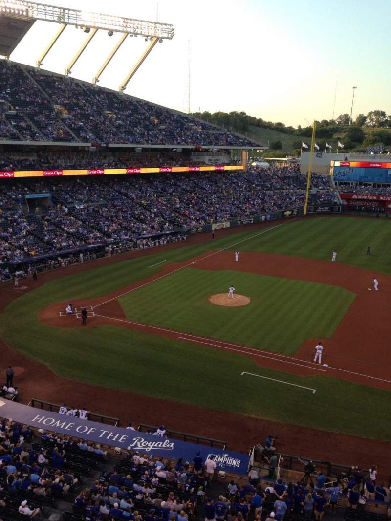 Seating view for Kauffman Stadium Section 430 Row A Seat 1