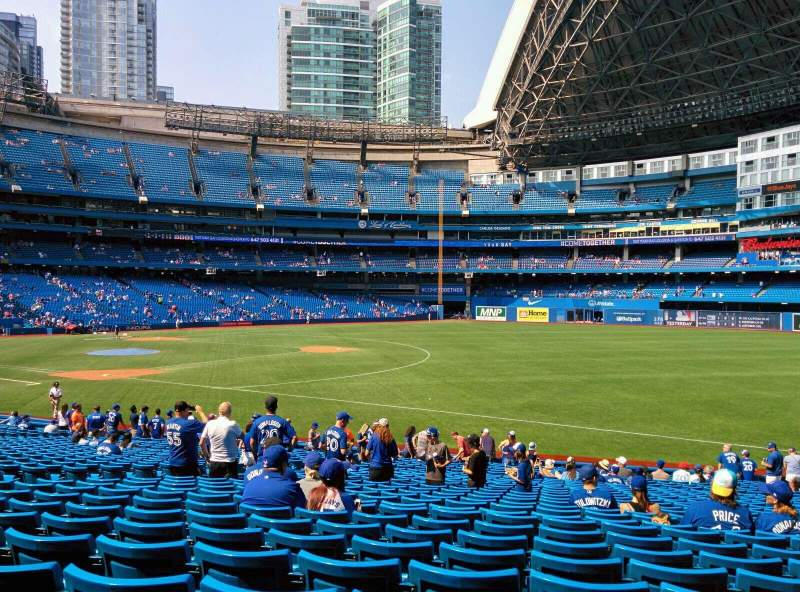 Seating view for Rogers Centre Section 113AR Row 29 Seat 13