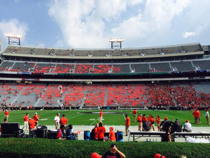 Seating view for Sanford Stadium Section 131 Row 3 Seat 9