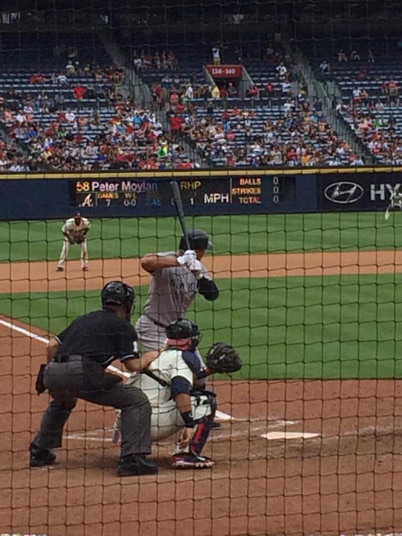 Seating view for Turner Field Section 105L Row 4 Seat 106