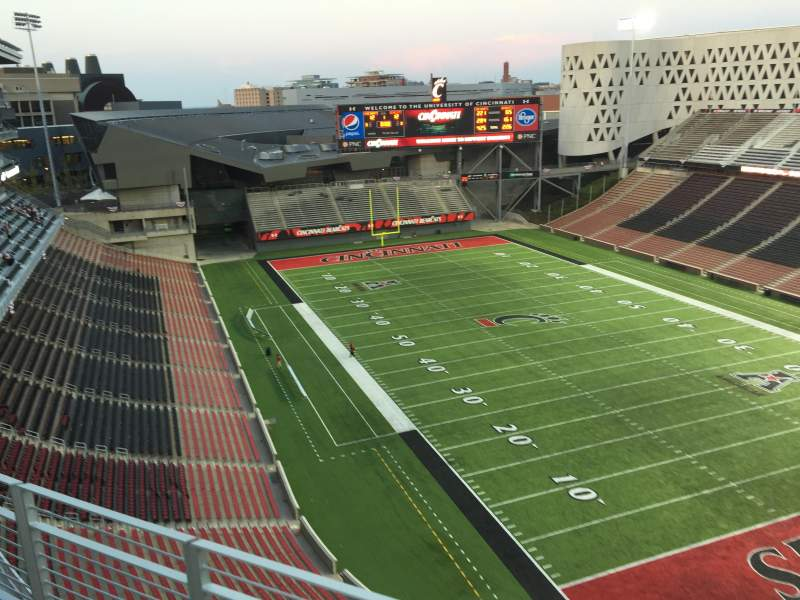 Seating view for Nippert Stadium Section Wyler Terrace