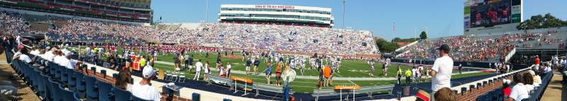 Seating view for Vaught-Hemingway Stadium Section N Row 1 Seat 5