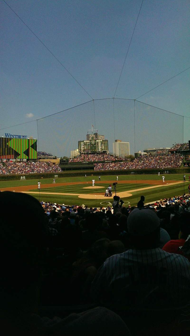 Seating view for Wrigley Field Section 120 Row 12 Seat 9