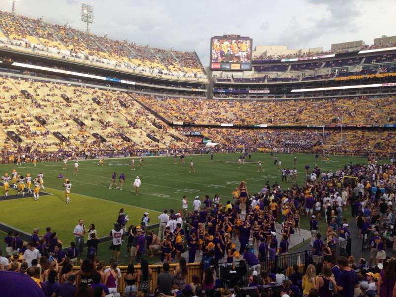 Seating view for Tiger Stadium Section 220 Row 1 Seat 20