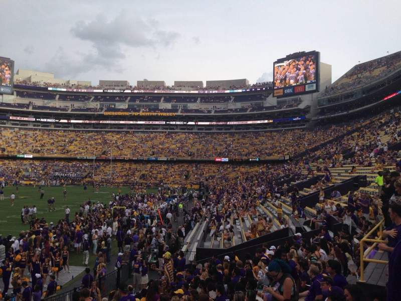 Seating view for Tiger Stadium Section 204 Row 1 Seat 16