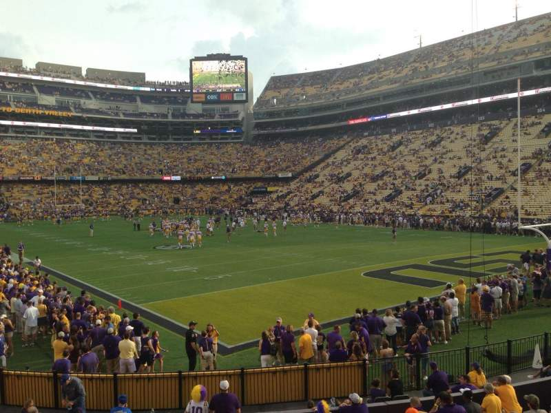 Seating view for Tiger Stadium Section 210 Row 1 Seat 17