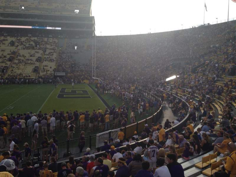 Seating view for Tiger Stadium Section 210 Row 2 Seat 17