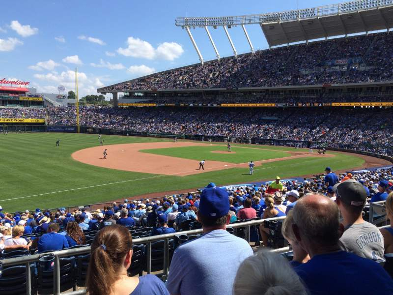 Seating view for Kauffman Stadium Section 214 Row DD Seat 6