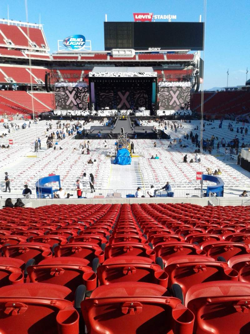 Seating view for Levi's Stadium Section 103 Row 21 Seat 13