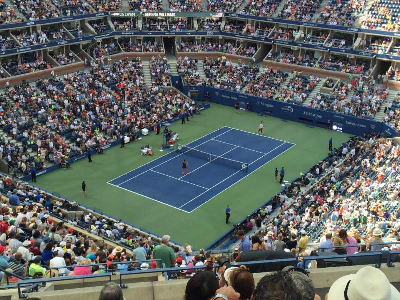 Seating view for Arthur Ashe Stadium Section 305 Row K Seat 14