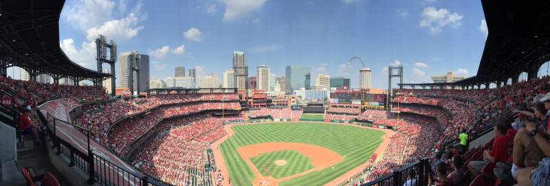 Seating view for Busch Stadium Section 448 Row 5 Seat 6