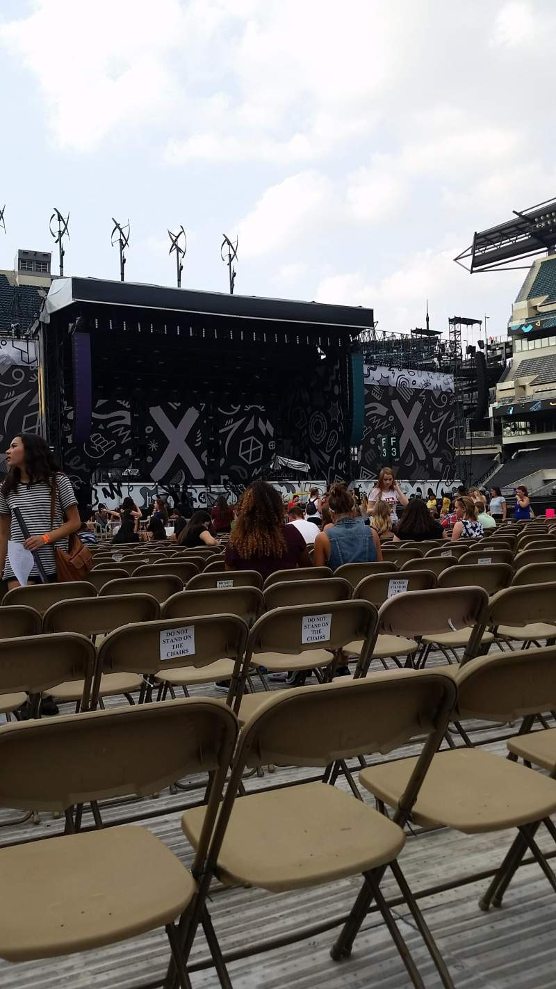Seating view for Lincoln Financial Field Section F8 Row 19 Seat 23