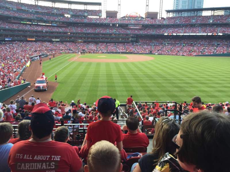 Seating view for Busch Stadium Section 128 Row 24 Seat 17