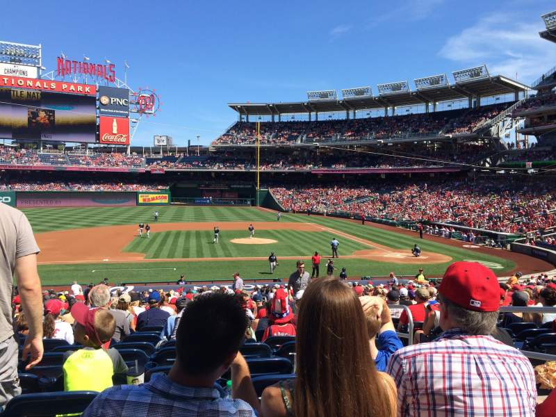 Seating view for Nationals Park Section 116 Row KK Seat 4
