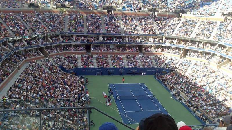 Seating view for Arthur Ashe Stadium Section 340 Row E Seat 18